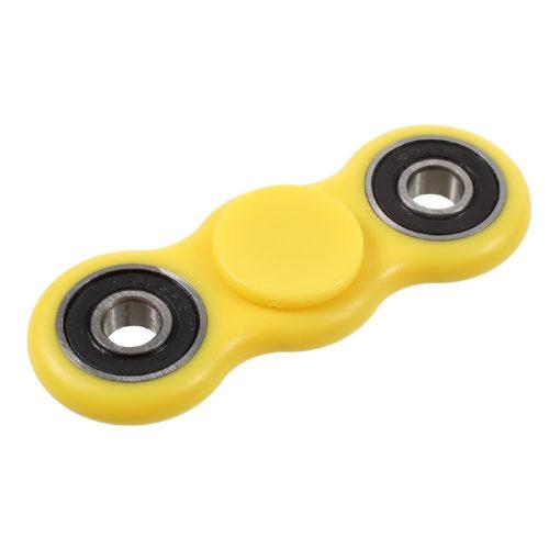 Fidget Spinner 2-Siipinen Muovi Keltainen