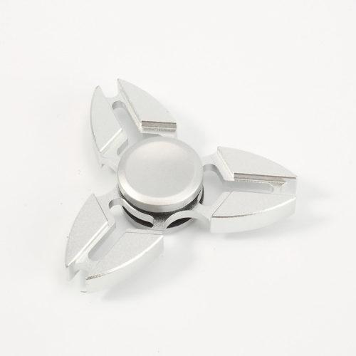 Fidget Spinner 3-Siipinen Alumiini Hopea