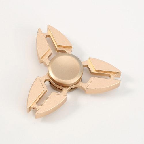 Fidget Spinner 3-Siipinen Alumiini Kulta