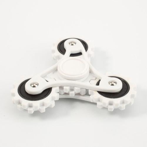 Fidget Spinner 3-Siipinen Rattaat Valkoinen