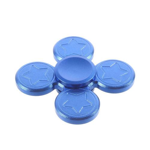 Fidget Spinner 4-Siipinen Alumiiniseos Sininen
