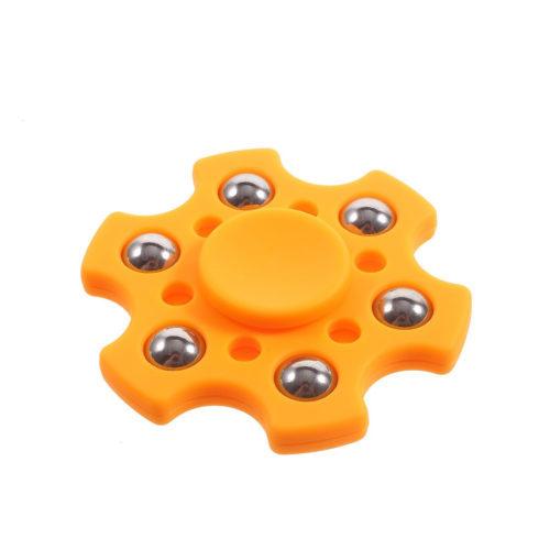Fidget Spinner 6-Siipinen Metallipalloilla Oranssi