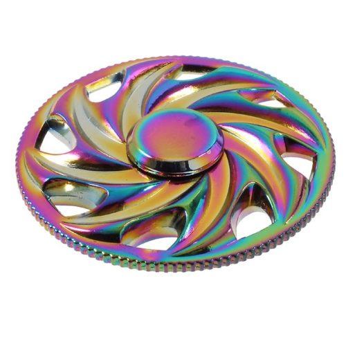 Fidget Spinner Alumiiniseos Pyörä Sateenkaari