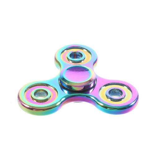 Fidget Spinner 3-Siipinen Metalliseos Sateenkaari