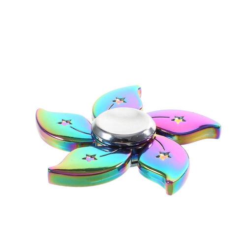 Fidget Spinner Metalliseos Sateenkaari Kukka